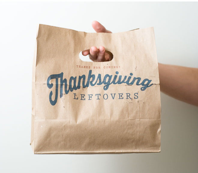Thanksgiving Leftover Bag